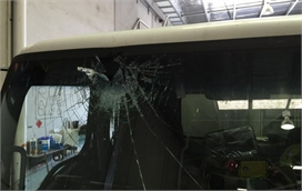 Damaged Truck Windscreen Replacement