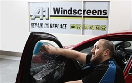 Car Window Tinting at Workshop